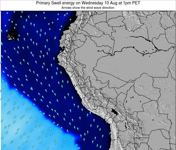 Peru Primary Swell energy on Friday 24 May at 1pm PET