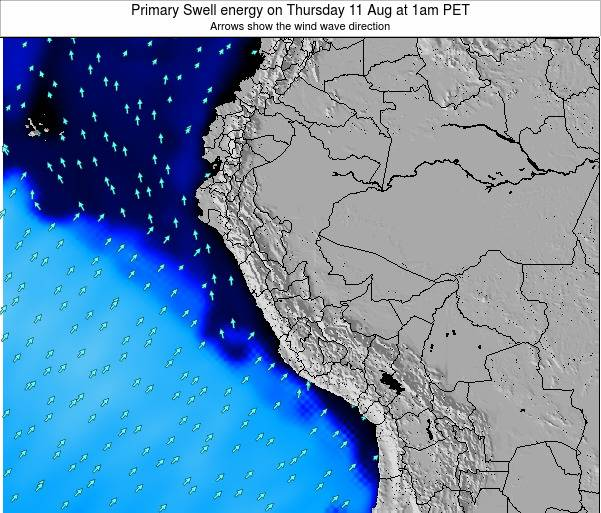 Peru Primary Swell energy on Thursday 30 May at 1am PET