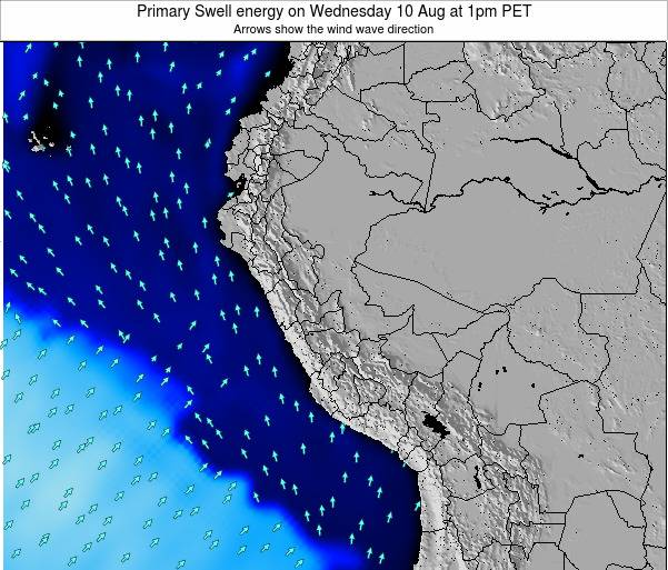 Peru Primary Swell energy on Tuesday 28 May at 1pm PET