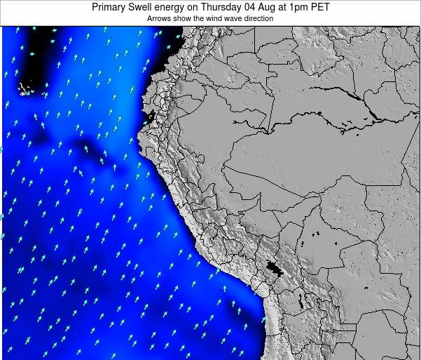 Peru Primary Swell energy on Friday 24 May at 1am PET