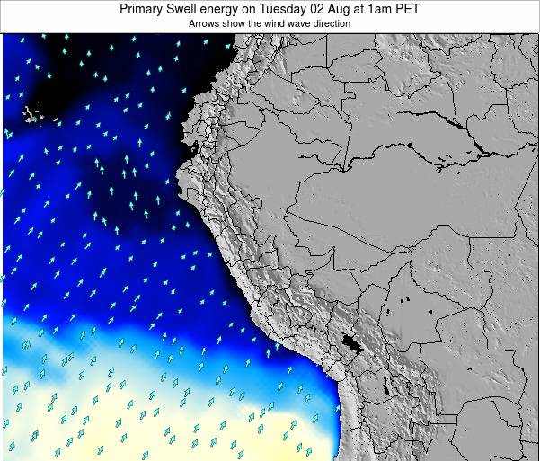 Peru Primary Swell energy on Thursday 20 Jun at 1pm PET