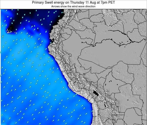 Peru Primary Swell energy on Sunday 26 May at 1am PET
