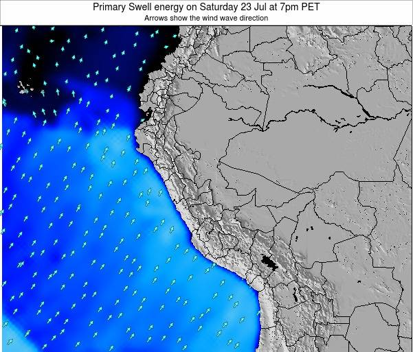 Peru Weather Map.Peru Primary Swell Energy On Tuesday 12 Feb At 7am Pet