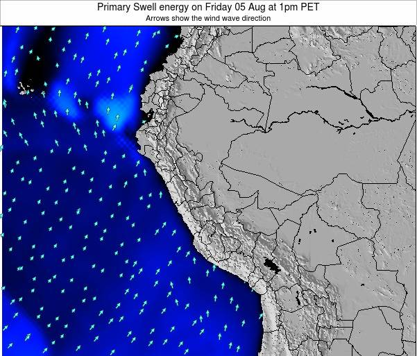 Peru Primary Swell energy on Sunday 26 May at 7pm PET