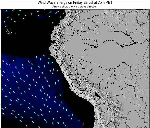 Peru Wind Wave energy on Monday 27 May at 1pm PET