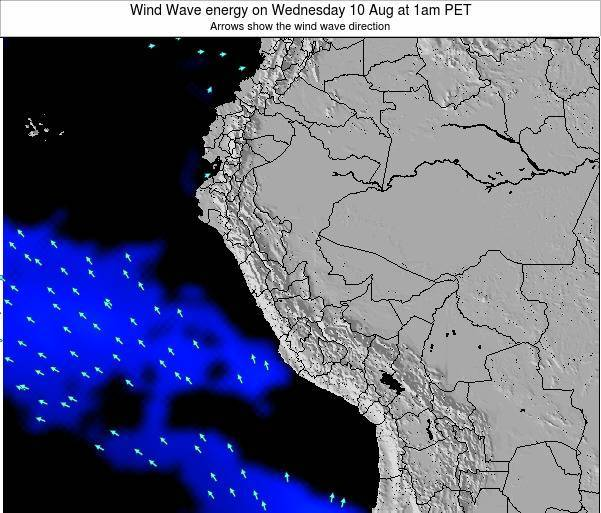 Peru Wind Wave energy on Friday 31 May at 1am PET