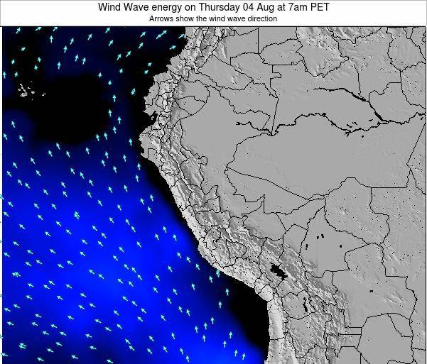 Peru Wind Wave energy on Monday 20 May at 1pm PET