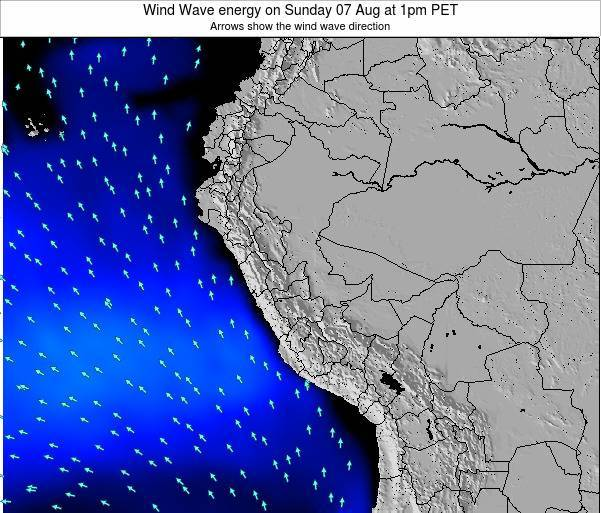 Peru Wind Wave energy on Wednesday 22 May at 7pm PET