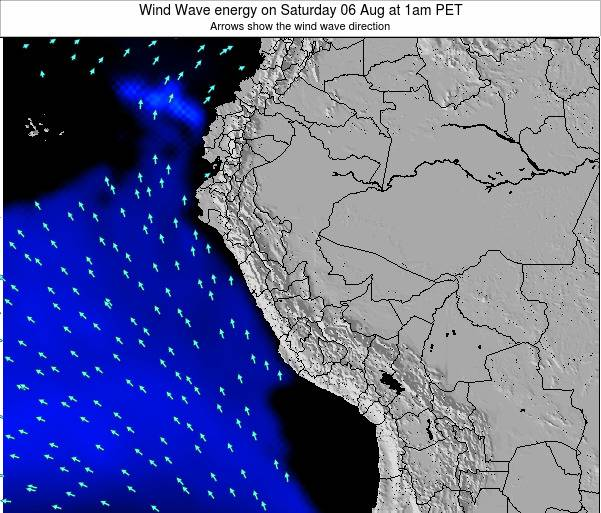 Peru Wind Wave energy on Monday 27 May at 1am PET