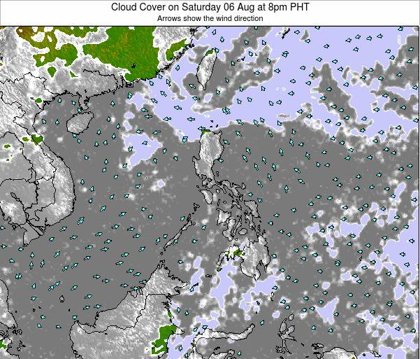 Palau Cloud Cover on Sunday 26 May at 2pm PHT map