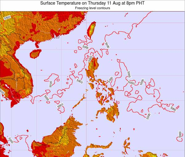 Philippines Surface Temperature on Tuesday 28 May at 8am PHT