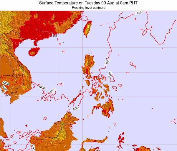 Philippines Surface Temperature on Wednesday 29 May at 2am PHT map