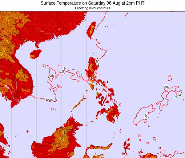 Philippines Surface Temperature on Sunday 26 May at 8am PHT