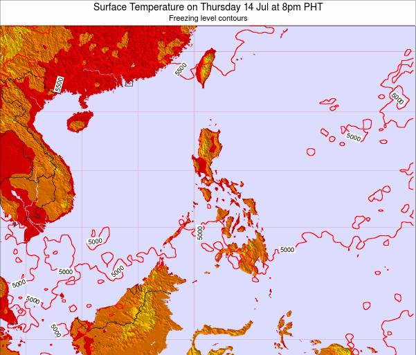 ParacelIslands Surface Temperature on Thursday 18 Oct at 2am PHT map