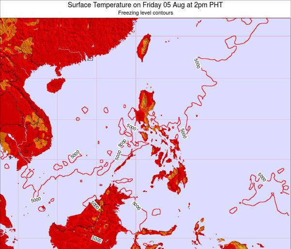 Philippines Surface Temperature on Sunday 26 May at 2am PHT