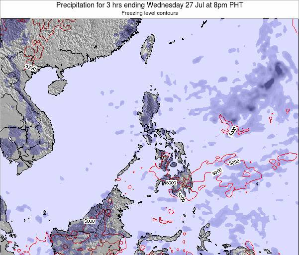 Palau Precipitation for 3 hrs ending Sunday 26 May at 2pm PHT