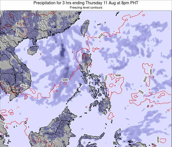 Palau Precipitation for 3 hrs ending Tuesday 28 Nov at 2am PHT map