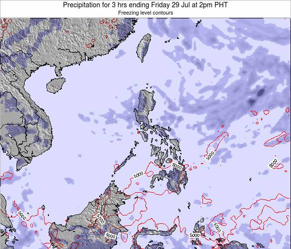 Palau Precipitation for 3 hrs ending Thursday 13 Mar at 8pm PHT