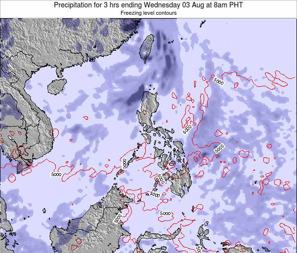 Palau Precipitation for 3 hrs ending Sunday 27 Jul at 8pm PHT