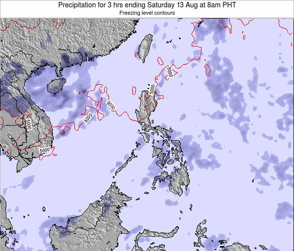 Palau Precipitation for 3 hrs ending Thursday 30 Jun at 8am PHT