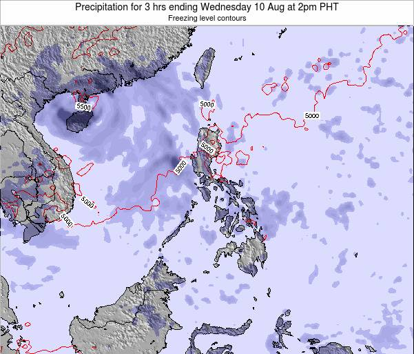 Palau Precipitation for 3 hrs ending Friday 26 Jan at 8am PHT map