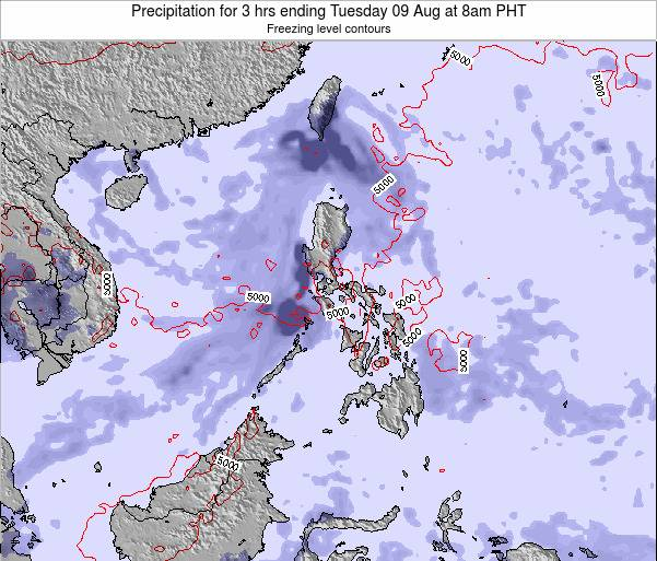 Palau Precipitation for 3 hrs ending Friday 30 Sep at 2am PHT