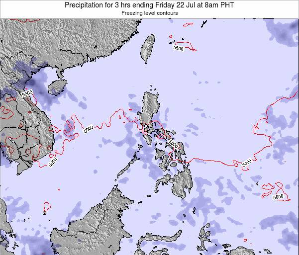 Palau Precipitation for 3 hrs ending Wednesday 18 Dec at 2am PHT