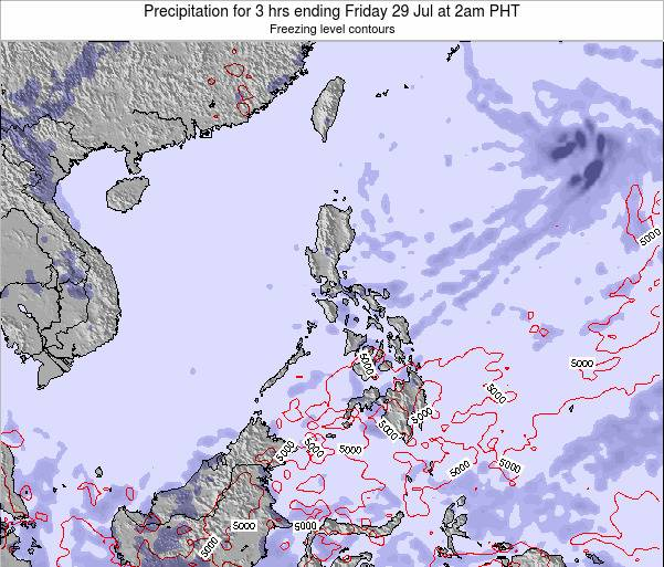Palau Precipitation for 3 hrs ending Sunday 05 Jun at 8am PHT