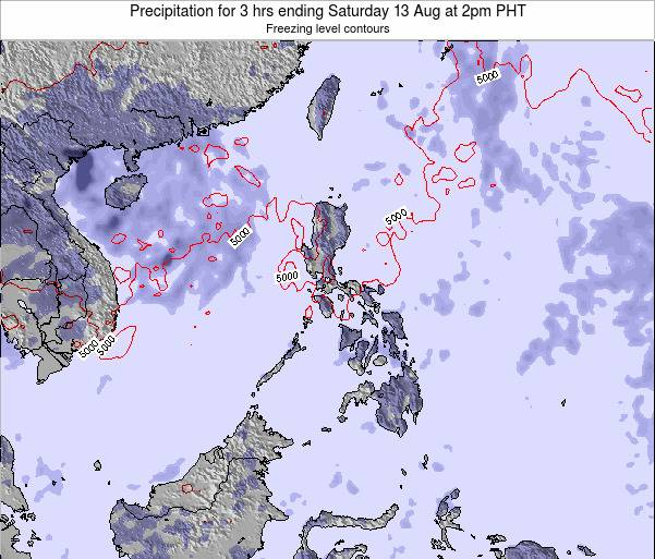 Palau Precipitation for 3 hrs ending Friday 28 Nov at 2pm PHT