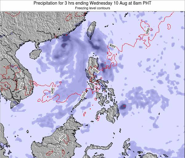 Palau Precipitation for 3 hrs ending Tuesday 29 Jul at 2am PHT