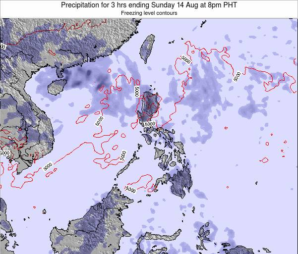 Paracel Islands Precipitation for 3 hrs ending Friday 24 May at 8pm PHT map