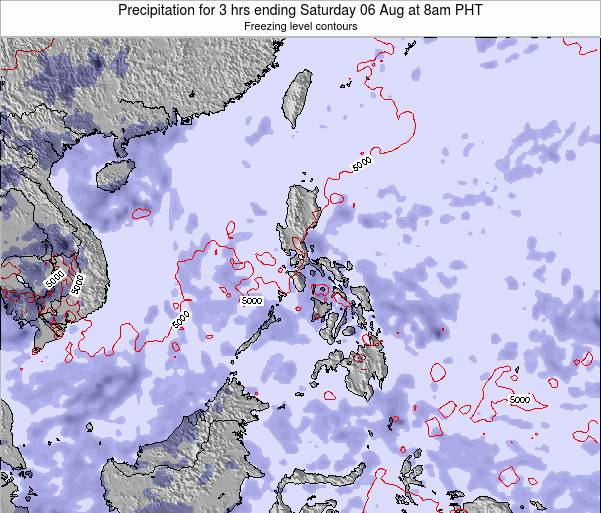 Palau Precipitation for 3 hrs ending Monday 24 Jun at 2pm PHT