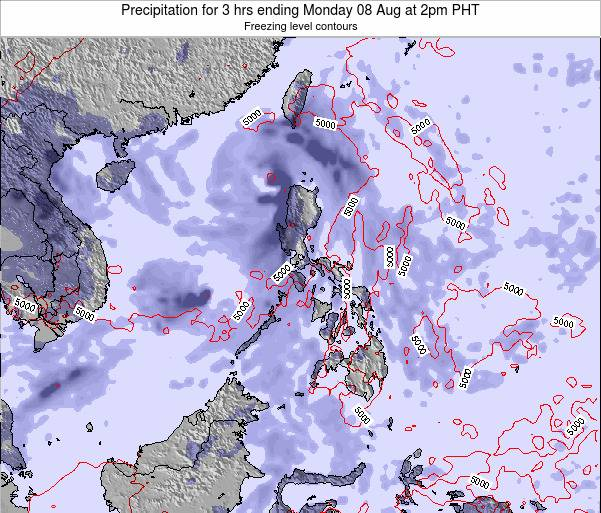 Palau Precipitation for 3 hrs ending Sunday 29 Oct at 8pm PHT