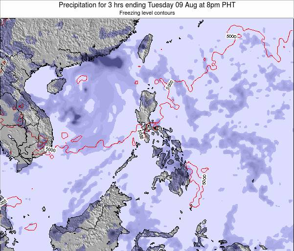 Palau Precipitation for 3 hrs ending Thursday 31 Jul at 2am PHT