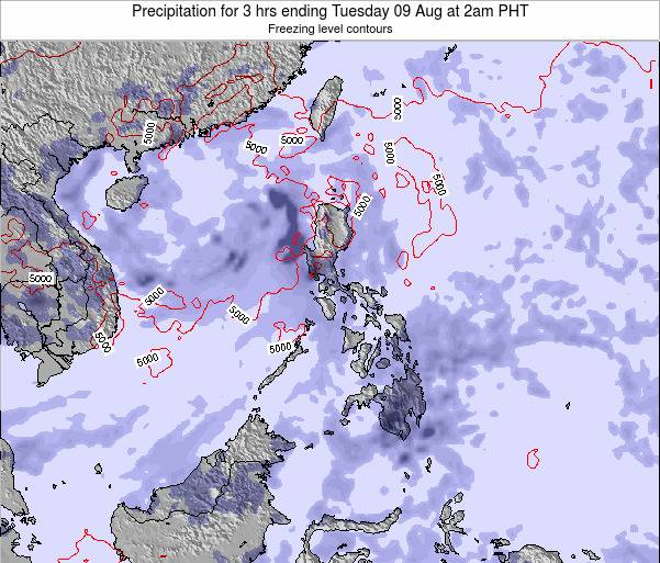 Palau Precipitation for 3 hrs ending Sunday 20 Apr at 2pm PHT