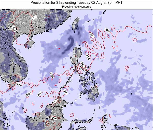 Palau Precipitation for 3 hrs ending Wednesday 03 Sep at 8pm PHT