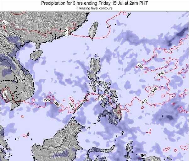 Philippines Precipitation for 3 hrs ending Saturday 22 Jun at 8am PHT map