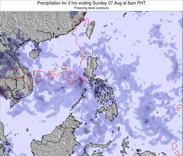 Palau Precipitation for 3 hrs ending Wednesday 22 May at 2am PHT