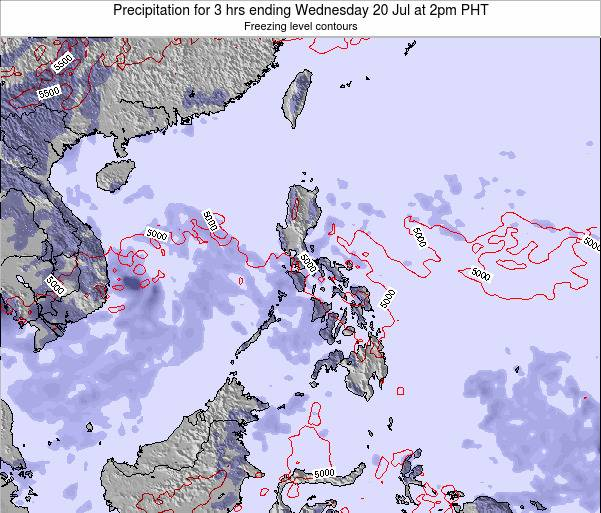 Palau Precipitation for 3 hrs ending Thursday 23 May at 2pm PHT