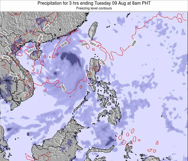 Palau Precipitation for 3 hrs ending Thursday 28 Sep at 2pm PHT