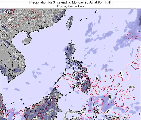Palau Precipitation for 3 hrs ending Sunday 27 Apr at 8am PHT