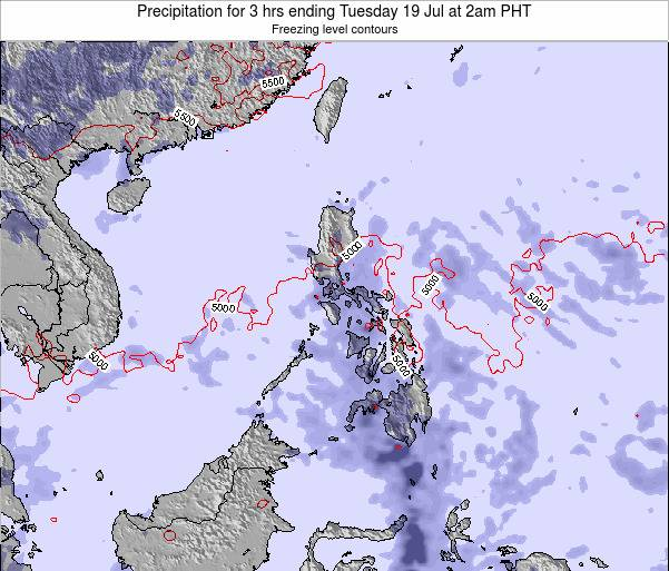 Palau Precipitation for 3 hrs ending Saturday 14 Dec at 8pm PHT