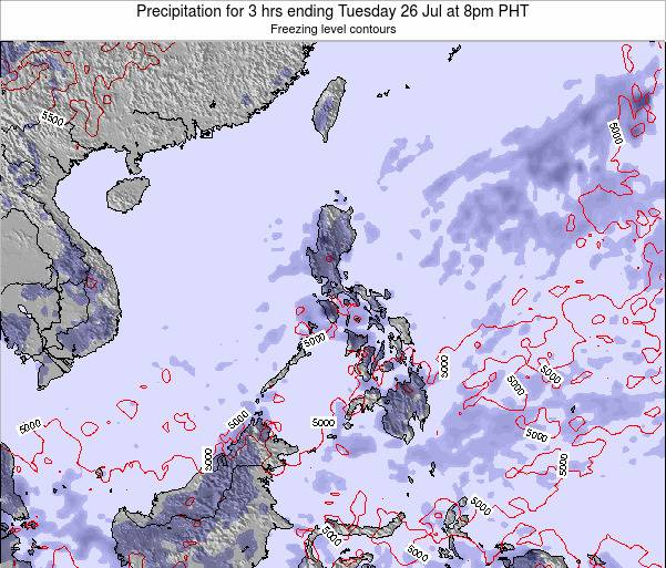Palau Precipitation for 3 hrs ending Saturday 19 Apr at 8pm PHT