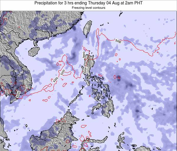 Palau Precipitation for 3 hrs ending Wednesday 12 Mar at 2am PHT