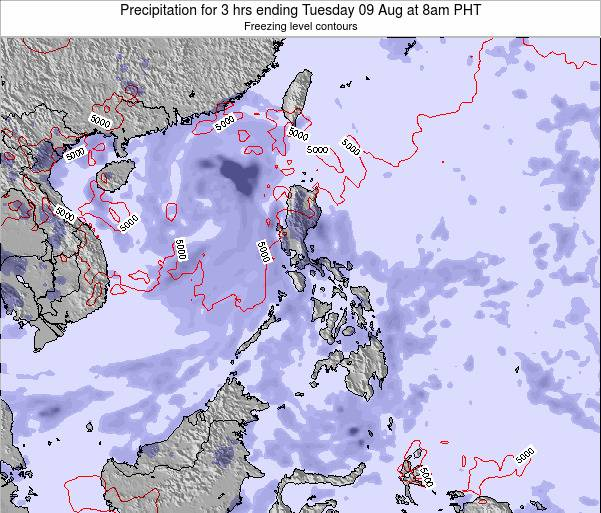 Palau Precipitation for 3 hrs ending Thursday 23 May at 2am PHT