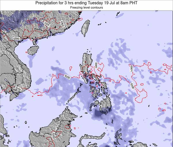 Palau Precipitation for 3 hrs ending Sunday 08 Mar at 2am PHT