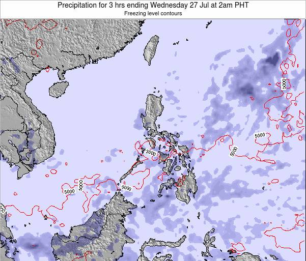 Palau Precipitation for 3 hrs ending Sunday 20 Apr at 8pm PHT