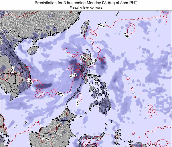 Palau Precipitation for 3 hrs ending Saturday 25 May at 8am PHT