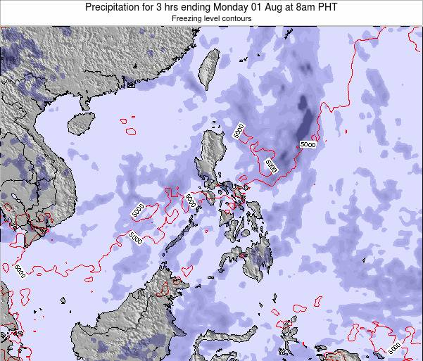Palau Precipitation for 3 hrs ending Thursday 13 Mar at 2am PHT