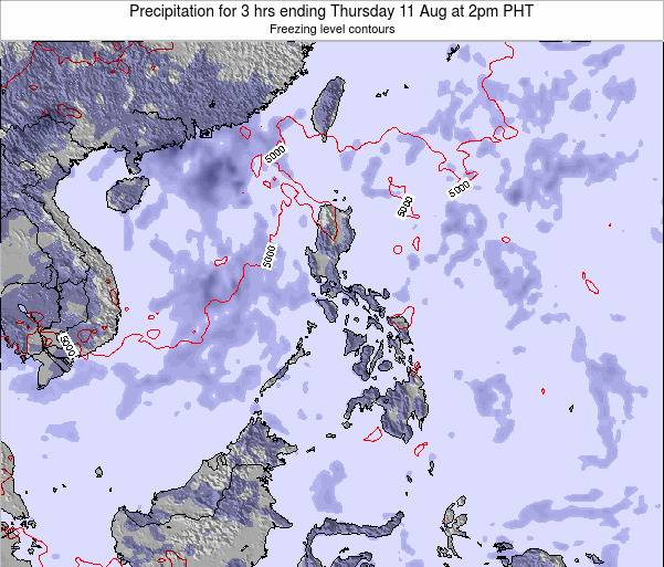 Palau Precipitation for 3 hrs ending Tuesday 28 Oct at 2pm PHT